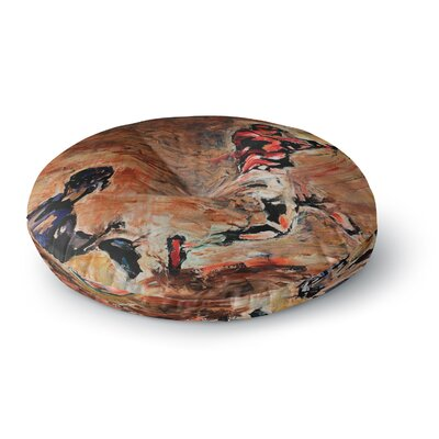 Josh Serafin Its Gone! Round Floor Pillow Size: 23 x 23