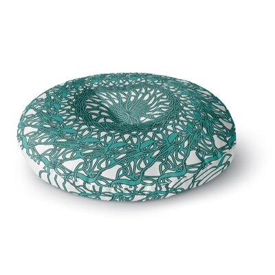 Patternmuse Mandala Spin Jade Round Floor Pillow Size: 26 x 26