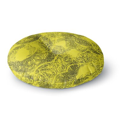Patternmuse Mandala Lemon Round Floor Pillow Size: 26 x 26