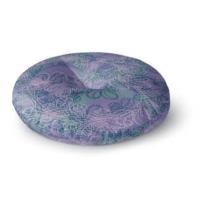 Patternmuse Jaipur Juniper Round Floor Pillow Size: 26 x 26, Color: Blue/Lavender