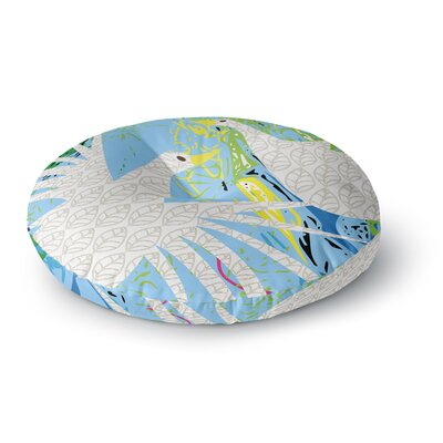 Pattern Muse Pond Birds Round Floor Pillow Size: 26 x 26