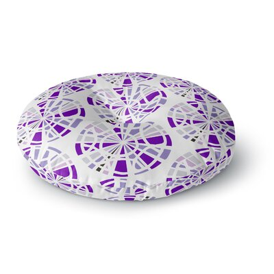 Patternmuse Precious Ruby Illustration Round Floor Pillow Size: 26 x 26, Color: Purple