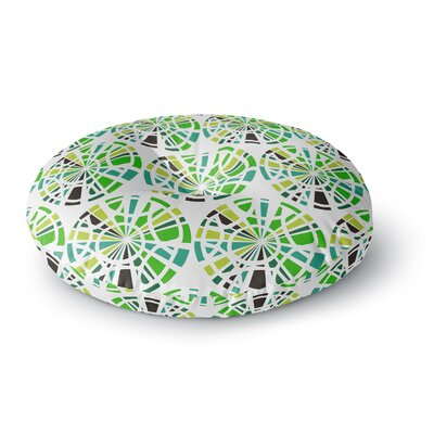 Patternmuse Precious Ruby Illustration Round Floor Pillow Size: 23 x 23, Color: Green/Olive