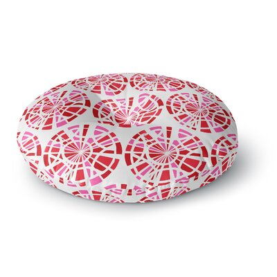 Patternmuse Precious Ruby Illustration Round Floor Pillow Size: 23 x 23, Color: Red/Pink