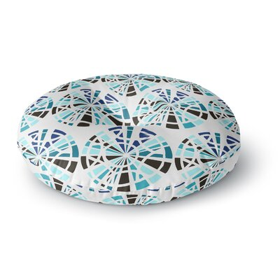 Patternmuse Precious Ruby Illustration Round Floor Pillow Size: 23 x 23, Color: Blue/Teal