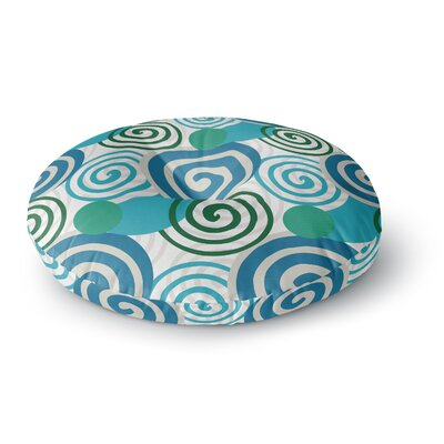 Patternmuse Dynamic Swirls Digital Round Floor Pillow Size: 23 x 23