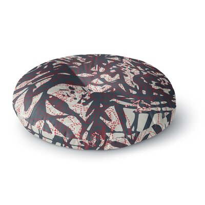 Patternmuse Inked Floral Latte Illustration Round Floor Pillow Size: 26 x 26
