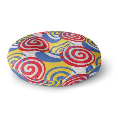 Patternmuse Dynamic Swirls Digital Round Floor Pillow Size: 26 x 26