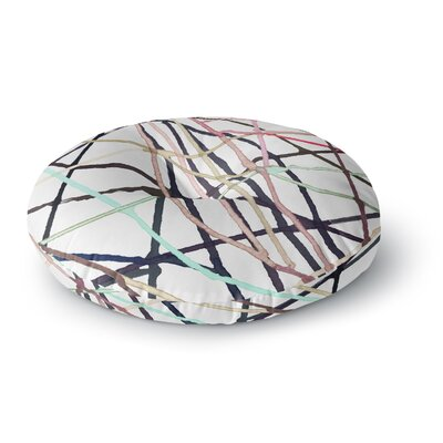 Patternmuse Love Tangle Round Floor Pillow Size: 23 x 23