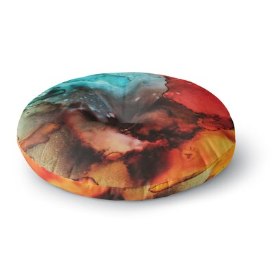 Abstract Anarchy Design Birth Place of the Heavens Round Floor Pillow Size: 26 x 26