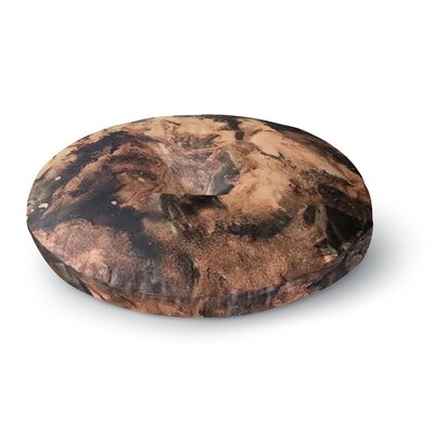 Abstract Anarchy Design King Midas Round Floor Pillow Size: 26 x 26