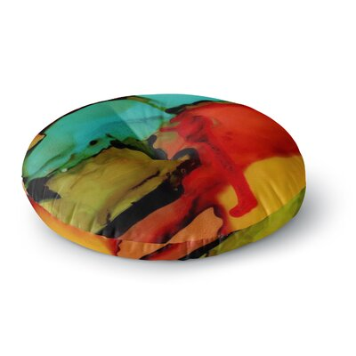 Abstract Anarchy Design Caldera #1 Round Floor Pillow Size: 23 x 23