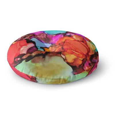 Abstract Anarchy Design Caldera #3 Round Floor Pillow Size: 23 x 23