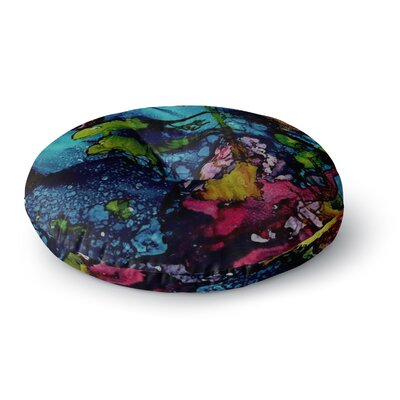 Abstract Anarchy Design Sharks Cove Round Floor Pillow Size: 26 x 26