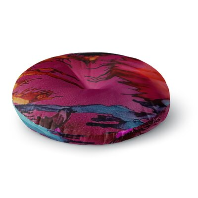 Abstract Anarchy Design Marianas Trench Round Floor Pillow Size: 26 x 26