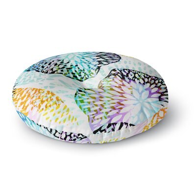 Jessica Wilde Tropical Flora Abstract Round Floor Pillow Size: 23 x 23