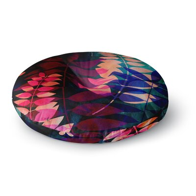 Jessica Wilde Dark Jungle Nature Round Floor Pillow Size: 26 x 26