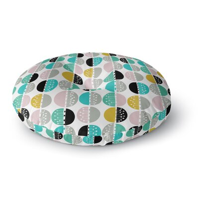 Jessica Wilde Carnival Stripe Round Floor Pillow Size: 23 x 23