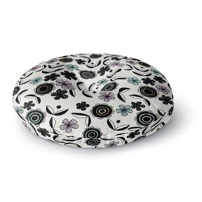 Jessica Wilde Artisan Floral Round Floor Pillow Size: 26 x 26