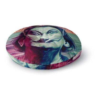 Jared Yamahata Babou Illustration Round Floor Pillow Size: 26 x 26
