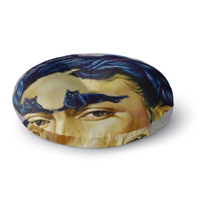 Jared Yamahata Frida Katlo People Round Floor Pillow Size: 23 x 23