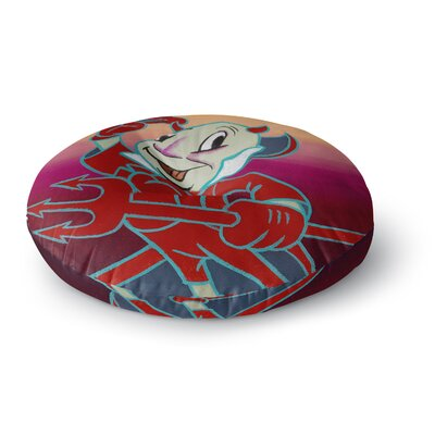Jared Yamahata Conscience  Pop Art Round Floor Pillow Size: 23 x 23