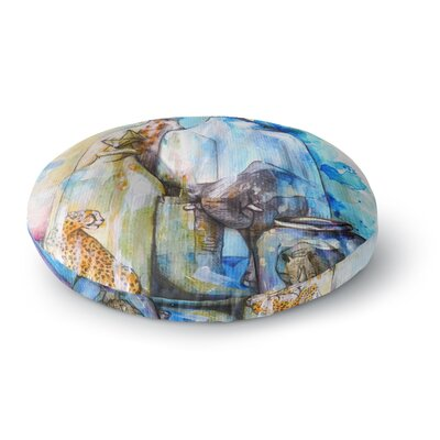 Kira Crees Bottled Animals Round Floor Pillow Size: 23 x 23