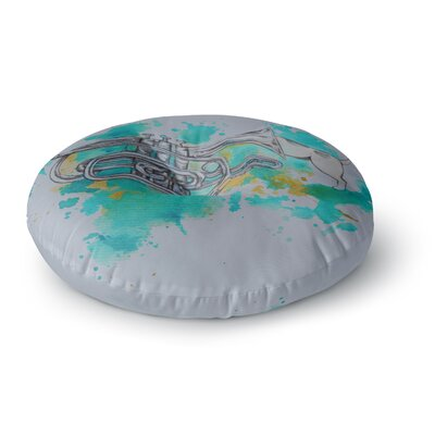 Kira Crees Hunting for Jazz Round Floor Pillow Size: 26 x 26