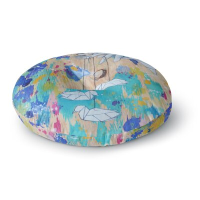 Kira Crees Origami Strings Round Floor Pillow Size: 26 x 26