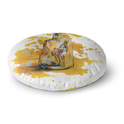 Kira Crees Vintage Bottled Deer Round Floor Pillow Size: 23 x 23