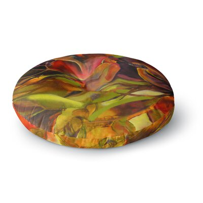 Kristin Humphrey Mirrored in Nature Round Floor Pillow Size: 26 x 26