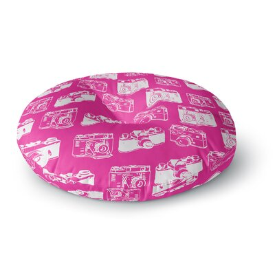 Camera Pattern Round Floor Pillow Size: 23 x 23