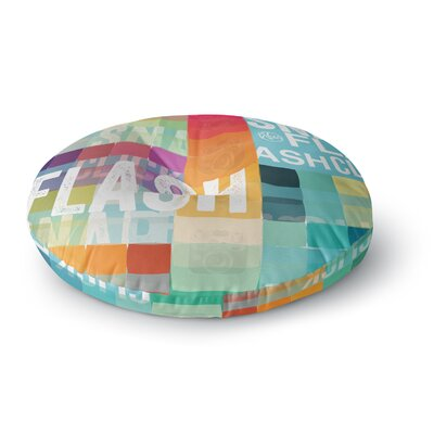 Flash Round Floor Pillow Size: 23 x 23