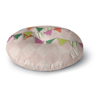 Flags 2 Round Floor Pillow Size: 23 x 23