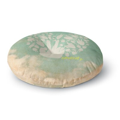 Serenity Round Floor Pillow Size: 26 x 26