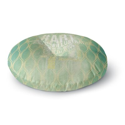 Hashtag Round Floor Pillow Size: 23 x 23