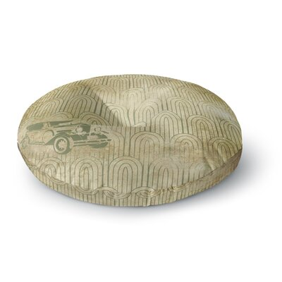 Deco Car Round Floor Pillow Size: 26 x 26