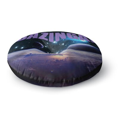 Bazinga Space Round Floor Pillow Size: 26 x 26, Color: Purple