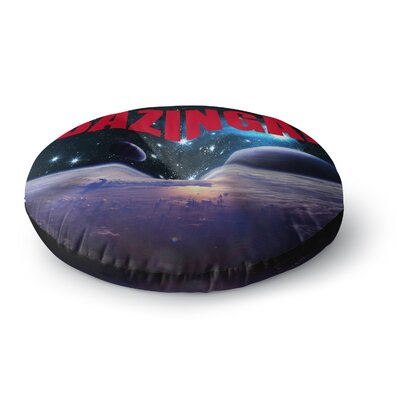 Bazinga Space Round Floor Pillow Size: 26 x 26, Color: Red