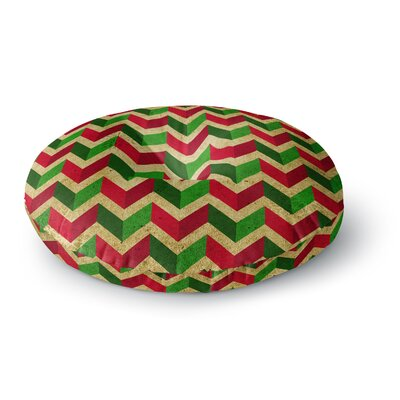 Herringbornaments Round Floor Pillow Size: 26 x 26
