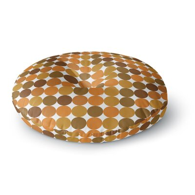Noblefur Dots Round Floor Pillow Size: 26 x 26, Color: Orange Harvest