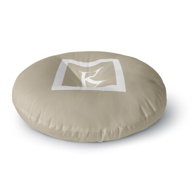 Monogram Solid Round Floor Pillow Size: 26 x 26, Color: Tan