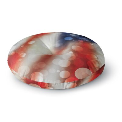 Patriot America Bokeh Round Floor Pillow Size: 26 x 26