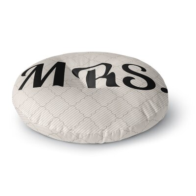 MRS Round Floor Pillow Size: 23 x 23