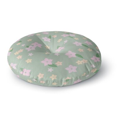 Spring Floral Round Floor Pillow Size: 26 x 26
