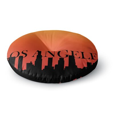 Los Angeles Round Floor Pillow Size: 23 x 23