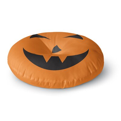 Pumpkin - Trick Round Floor Pillow Size: 23 x 23
