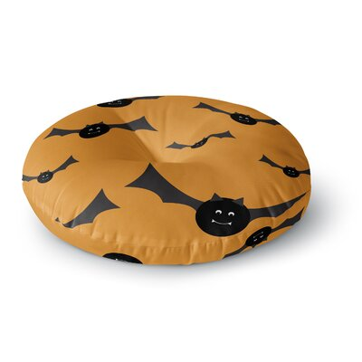 Going Batty Round Floor Pillow Size: 26 x 26