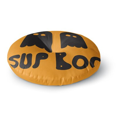 Sup Boo Round Floor Pillow Size: 23 x 23