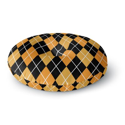 Argyle - Day Round Floor Pillow Size: 23 x 23, Color: Night